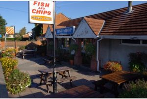 Ruby's Chip Shop in Thringstone. Story by Jim