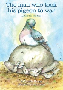 Book cover: The man who took his pigeon to war